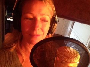 christine dente recording lead vocals