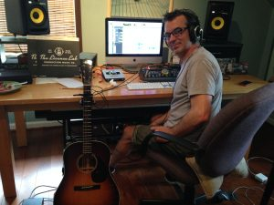 Scott Dente gets creative in his home studio