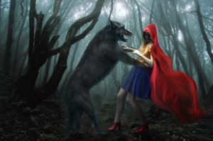 big bad wolf attacks little red riding hood